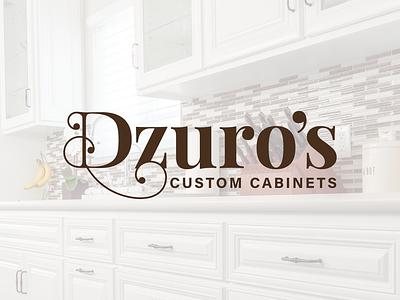 Dzuro's Custom Cabinets ventura serif cabinets typography logo branding
