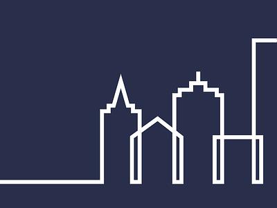 Gov.Consult Brand Element logo government new jersey illustration cityscape line art design branding