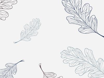 Wander Design Co. Leaf Pattern pattern leaves leaf autumn lineart illustration design branding