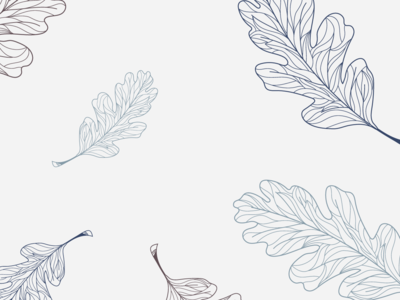 Wander Design Co. Leaf Pattern pattern leaves leaf autumn lineart illustration design branding