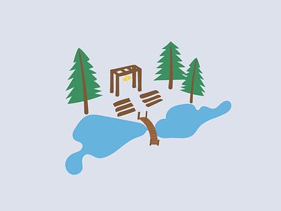 Ceremony Drawing graphic  design mammoth lakes lake forest invitations invites wedding illustration design