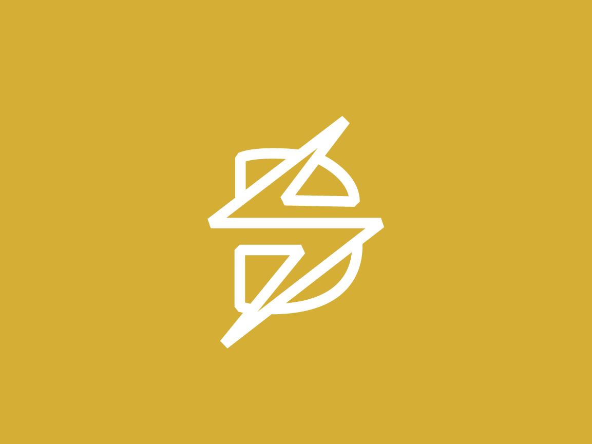 Disrupt Logo Concept strike lightning letter d logomark brand identity vector icon type logo typography branding design