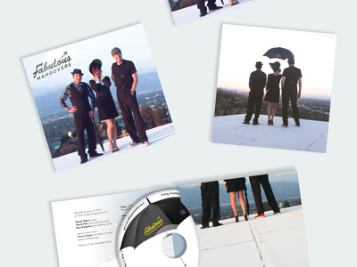 Fabulous Hangovers CD Cover travel branding album music graphic design sophisticated classy umbrella trio jazz