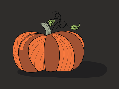 Fall Pumpkin graphic design dark line art orange halloween illustration stickermule