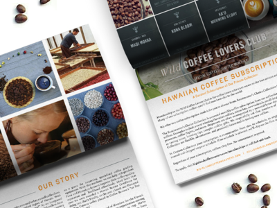 Big Island Coffee Roasters layout indesign design brand book booklet coffee beans hawaiian hawaii family business coffee roasting coffee