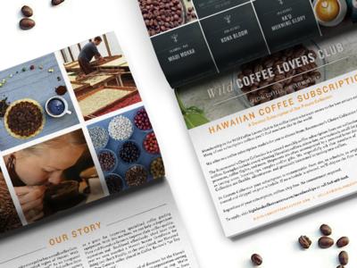 Big Island Coffee Roasters layout indesign design brand book booklet coffee beans hawaiian hawaii family business coffee roasting coffee
