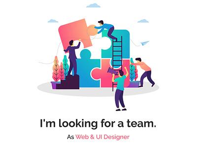 Looking for a team webdesigner available for hire availableforhire available hire lookingforteam hireme website design website landing page webdesign web design danielvincent