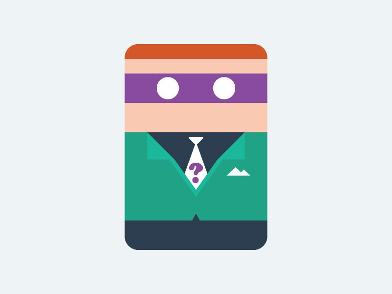Riddler nerd riddler minimal minimalist minimally nerd simple