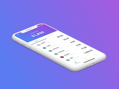 transactions app ux ui design