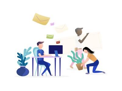 volunteer email volunteer vector design illustration