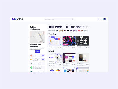 UpLabs homepage redesign challenge redesign homepage uplabs ux ui
