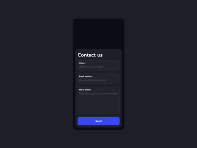 Contact us | Daily UI #028 send message message inquiry get in touch contact form form dailyui028 dailyui 028 daily ui 028 028 contact us contact website app interface dailyui design ux figma ui