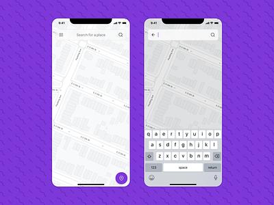 Map | Daily UI #029 atlas search bar search ios street maps map dailyui029 dailyui 029 daily ui 029 029 phone mobile app interface dailyui design ux figma ui
