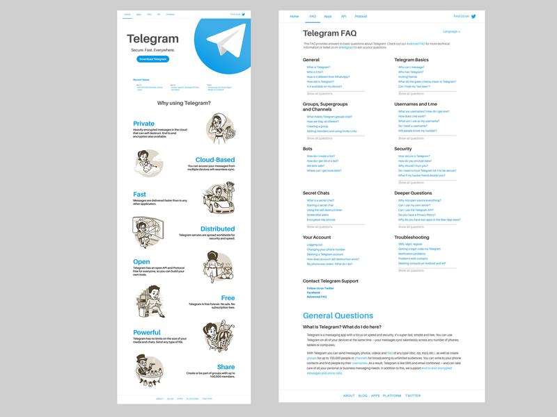 Telegram Website Redesign by Chevy H  Rivas on Dribbble