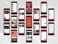 'Binger' Android App Design Concept