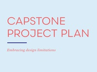 Revised Capstone Project Plan