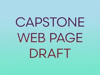 Capstone Web Page - First Draft