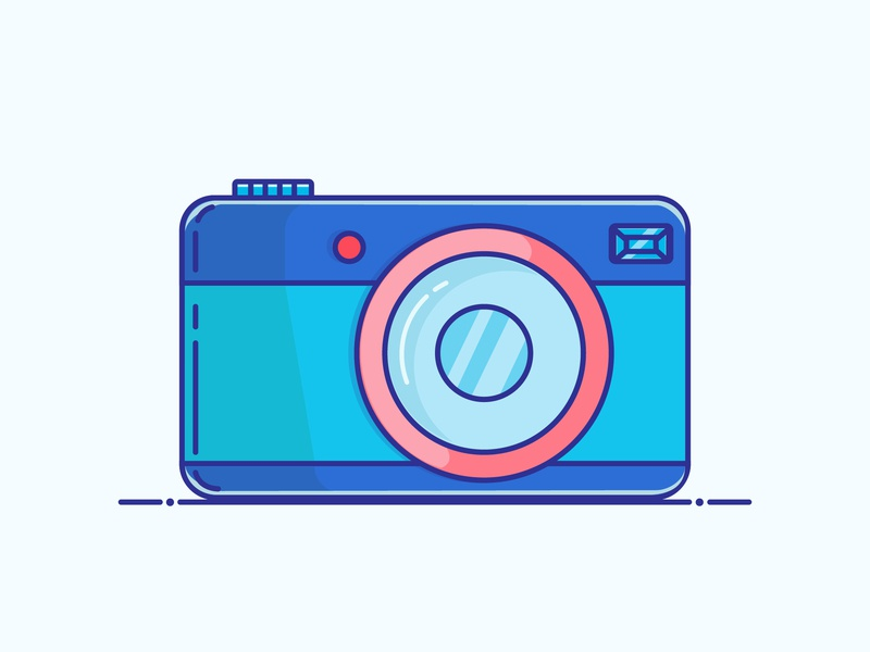 Camera camera icon logo minimal illustrator vector illustration design