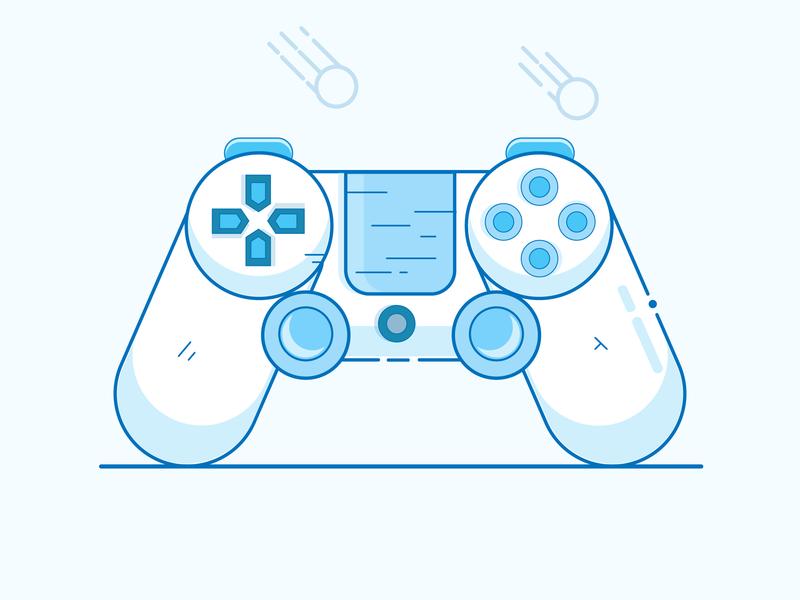 Ps4 Controller controller ps4 icon logo minimal illustrator vector illustration design