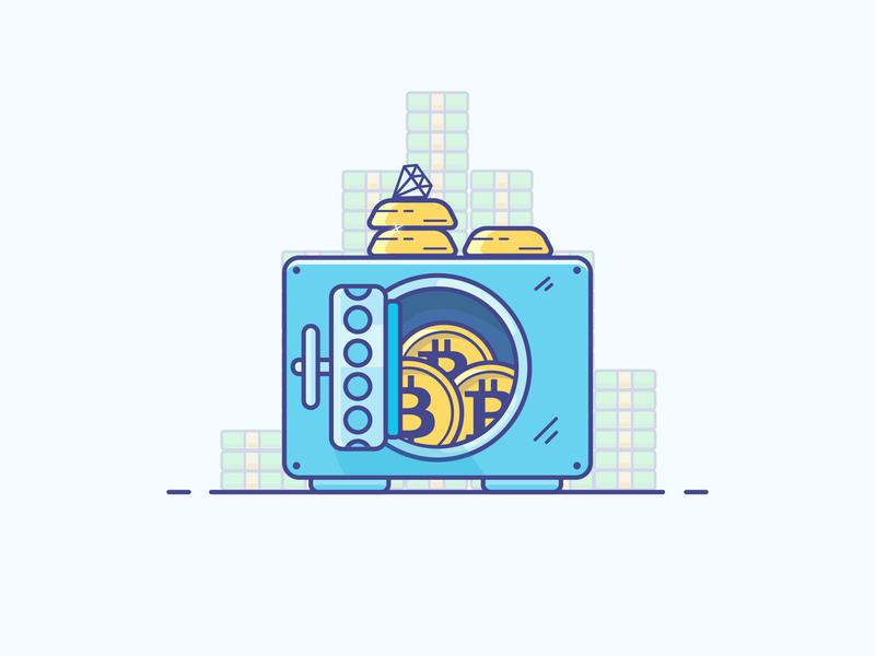 Safe diamond money safe icon logo minimal illustrator vector illustration design