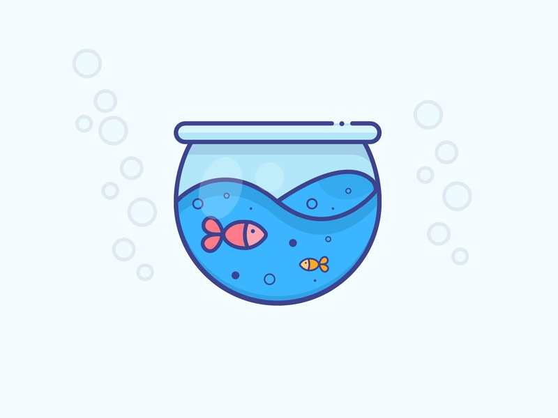 Golden Fish gradient golden fish fish icon logo minimal illustrator vector illustration design