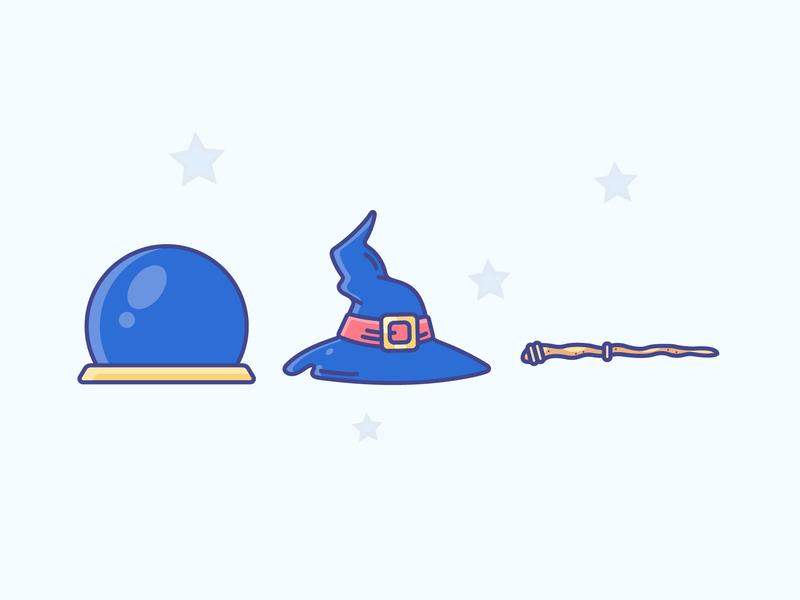 Magic Essentials costume magic gradient icon logo minimal illustrator vector illustration design