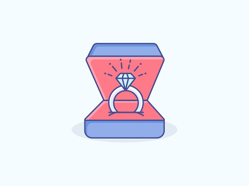 Ring engagement ring ring gradient icon logo minimal illustrator vector illustration design
