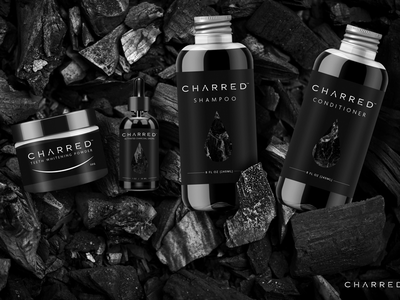 Charred Activated Charcoal Drops illustrator photoshop adobe activated charcoal product design packaging package design label design brand identity branding graphic artist graphic design