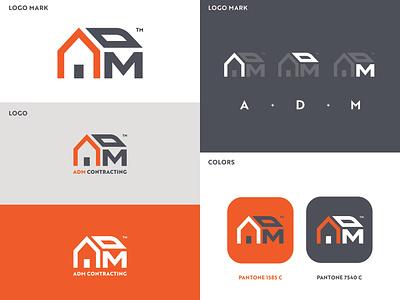 ADM Contracting Logo Development brand identity construction logo construction adobe logo design vector design graphic artist illustrator logo illustration branding graphic design