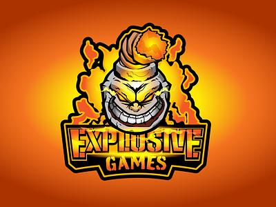 Explosive Games eSports Logo illustrator on ipad esport team artist esports logo logo design brand vector graphic artist illustrator logo illustration branding graphic design