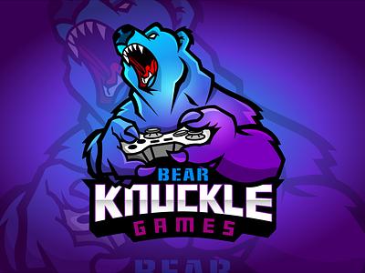 Bear Knuckle Games eSports Logo bear logo esports logo esports brand identity adobe logo design brand design graphic artist illustrator logo illustration graphic design