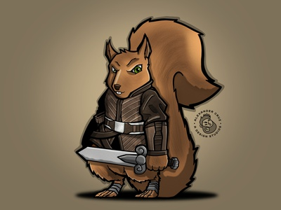 Squirrels Tail procreate art procreate drawing draw sketch character design graphic artist illustration graphic design
