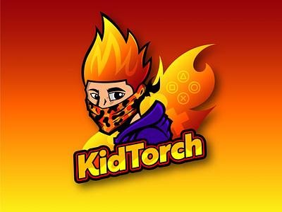 Kid Torch mascot logo esports mascot vector art esport esports logo brand identity artist adobe logo design vector illustrator graphic artist logo illustration graphic design
