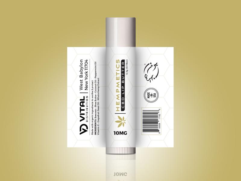 CBD Lip Balm Label Design product design hemp cbd branding graphic artist graphic design package design
