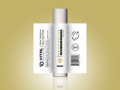 CBD Lip Balm Label Design