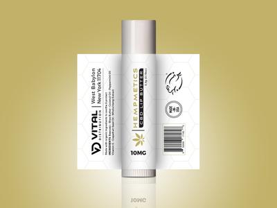 CBD Lip Balm Label Design