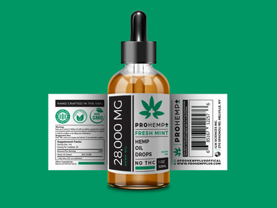 Pro Hemp Plus Label Design