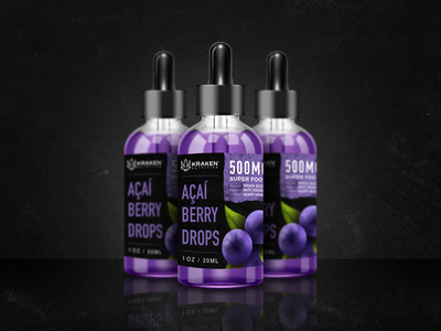 Kraken Nutrition Açaí Berry Drops