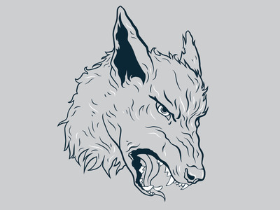 HAIR OF THE DOG snarl growl dog illustration hair of the dog wolf dog logo illustration