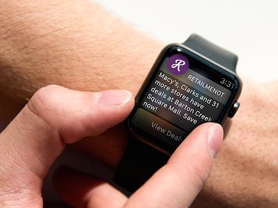 RetailMeNot Apple Watch App design ui ux wearables apple watch retailmenot