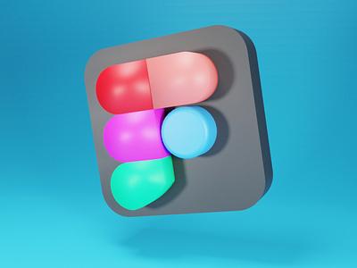 3D Figma Logo branding logo 3d