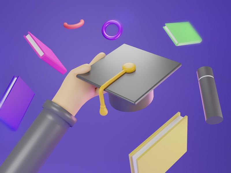 Happy Graduation 2020 ui 3d modeling design 3d
