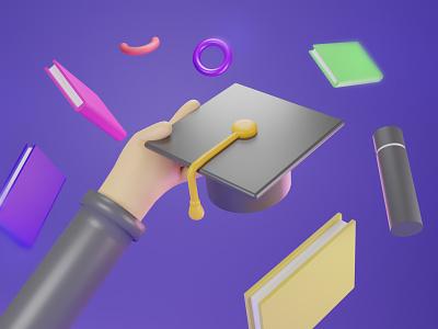 Happy Graduation 2020 ui design branding architectural design 3d modeling design 3d