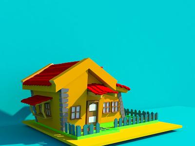 Modeling House Cartoon 3d modeling design 3d 3d artist