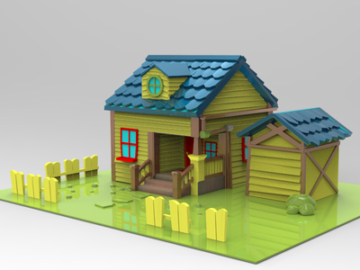 House Cartoon Inpiration from animation movie animation 3d artist design 3d modeling 3d
