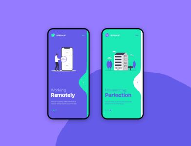 Onboarding Screens web minimal branding app web design ux ui design