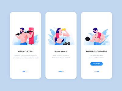 Guide pages app design ui illustration