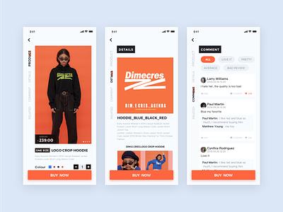Tide brand e-commerce ui app design