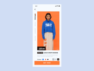 E-commerce purchase process animation app ux design ui