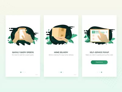 Guide pages design app illustration ui